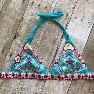 VS Halter Style Boho Print Bikini Top